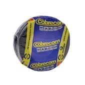 Cabo fio elétrico Cobrecom Flexicom 2,5mm preto 50m