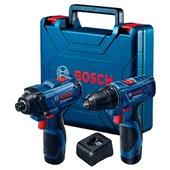 Combo Bosch chave impacto GDR 120LI + parafusadeira furadeira GSR 120LI