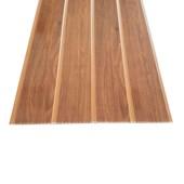 Forro de PVC em régua EspaçoForro Wood Slim novo castanho 7mm x 25cm x 3,95m