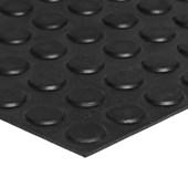 Piso de borracha Ecosistema Pastilhado preto 3,5mm x 500mm x 500mm