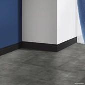 Rodapé de poliestireno EspaçoFloor frisado preto 10cm x 15mm x 2,20m